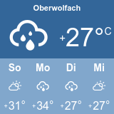 Weather at Oberwolfach (°C)