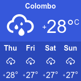 آب و هوای کلمبو