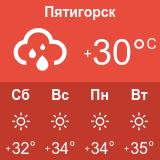 Погода в Пятигорске