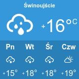 Pogoda w Parku Linowym Bluszcz w Świnoujściu