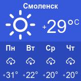 погода в смоленски но 3 дня пожалуй