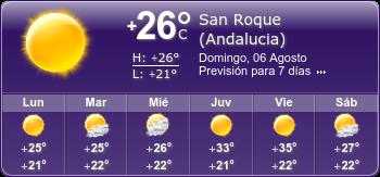 El tiempo en San Roque