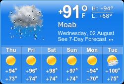 Moab Weather, Utah — Discover Moab