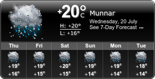 Munnar Weather Widget